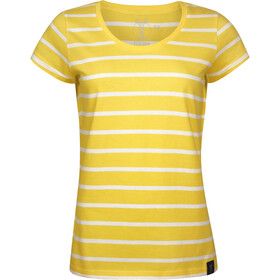 Elkline Anna T-Shirt Damen lemon-white